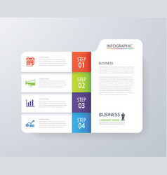 infographic vertical 4 tab index design vector image vector image