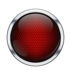 Red honeycomb icon ball vector image