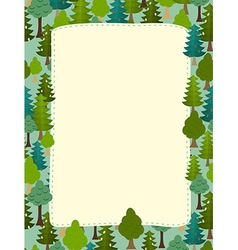 Conifers pattern background of trees earth day vector