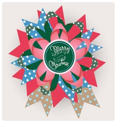 Merry christmas song paper jewelry vector image