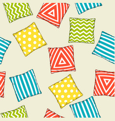 Seamless pattern with multicolored decorative vector