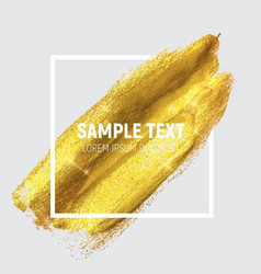 gold paint glittering textured art vector image