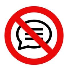 No talking sign vector image vector image