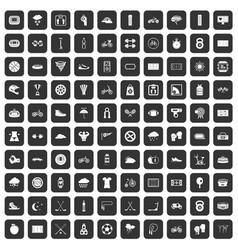 100 cycling icons set black vector