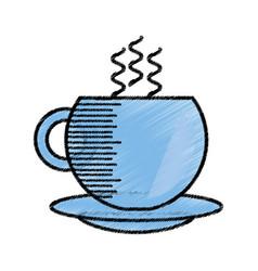 coffee cup hot beverage sketch vector image