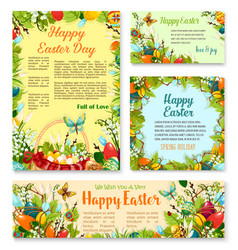 easter day festive banner and poster template set vector image