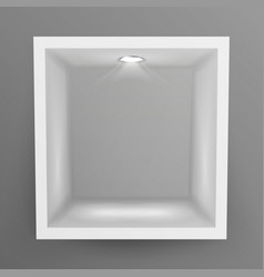 empty show window niche abstract clean vector image