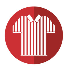 Referee jersey stripes american football shadow vector
