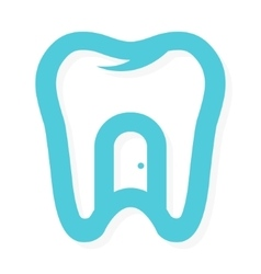 tooth logo with the door at home Dental vector image vector image