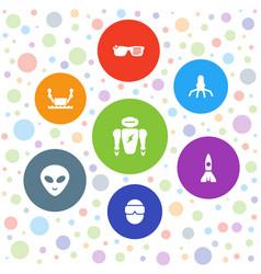 7 futuristic icons vector
