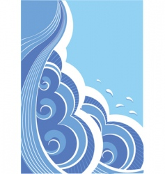 abstract seascape vector image