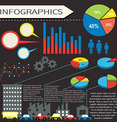 An infographics with humans and vehicles vector image