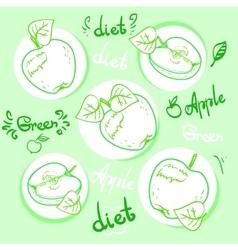 Apple diet Ripe apples vector image vector image