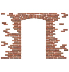 Arch in brick wall vector