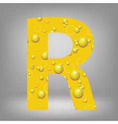 beer letter R vector image