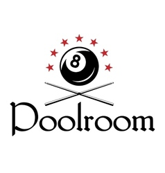Billiard or snooker emblem vector