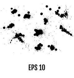 black splashes hand made tracing from sketch all vector image