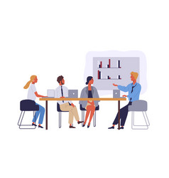 Business people coworking space flat vector