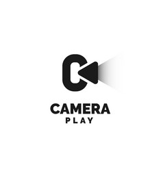 camera play logo design inspiration vector image