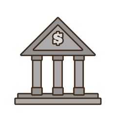 cartoon building bank money finance vector image