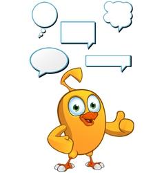 Cartoon Chick Speech Set vector image