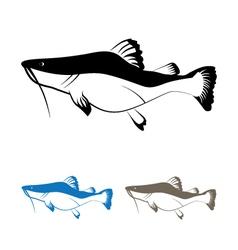 Cat fish vector