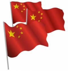 china 3d flag vector image