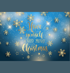 christmas background with decorative type vector image
