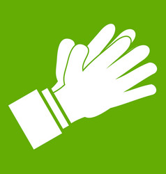 clapping applauding hands icon green vector image