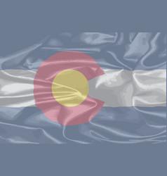 Colorado state silk flag vector