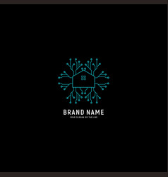 Creative digital home logo vector