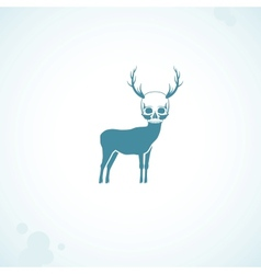 Deer skull head vector