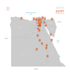 egypt map with administrative divisions vector image