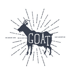 farm animals icons silhouette goat vector image