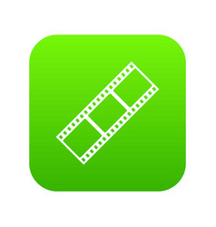 film strip icon digital green vector image