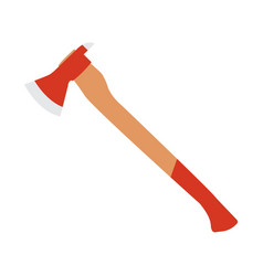 fire fighter axe icon flat vector image