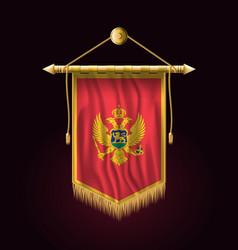 flag of montenegro festive vertical banner wall vector image