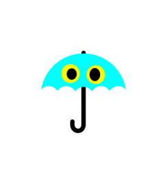 flat cartoon umbrella this is a for vector image