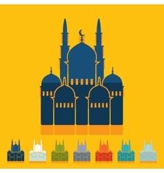 Flat design mosque vector image