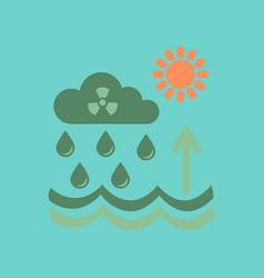 Flat icon on stylish background radioactive cloud vector