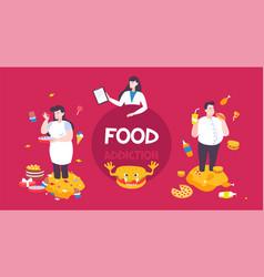 Food addiction background vector