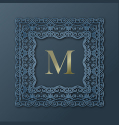 frame monogram design vector image