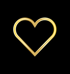 Gold heart logo vector