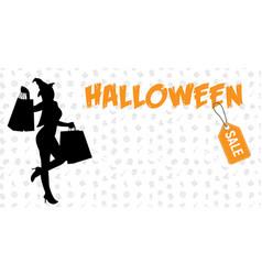 halloween sale halloween discount background vector image
