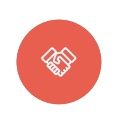 Handshake thin line icon vector image