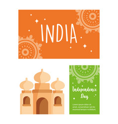 Happy independence day india monument indian vector