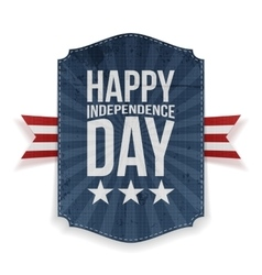 Happy Independence Day realistic Banner vector