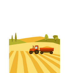 Harvested agricultural field vector