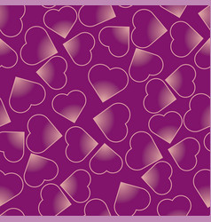 hearts purple seamless pattern vector image