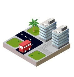 Houses and roads vector